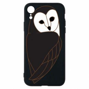 Phone case for iPhone XR Black owl - PrintSalon