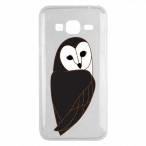 Phone case for Samsung J3 2016 Black owl - PrintSalon