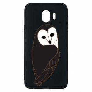 Phone case for Samsung J4 Black owl - PrintSalon