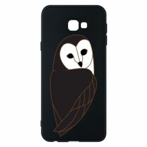 Phone case for Samsung J4 Plus 2018 Black owl - PrintSalon
