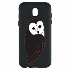 Phone case for Samsung J5 2017 Black owl - PrintSalon