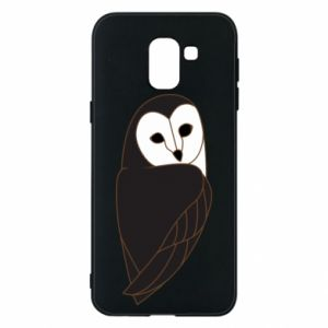 Phone case for Samsung J6 Black owl - PrintSalon