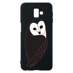 Phone case for Samsung J6 Plus 2018 Black owl - PrintSalon