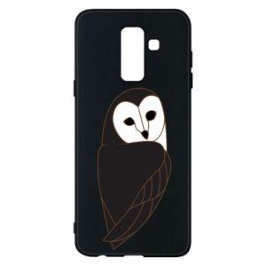 Phone case for Samsung A6+ 2018 Black owl - PrintSalon