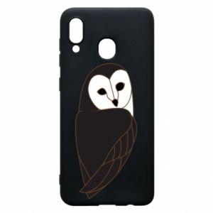 Phone case for Samsung A20 Black owl - PrintSalon