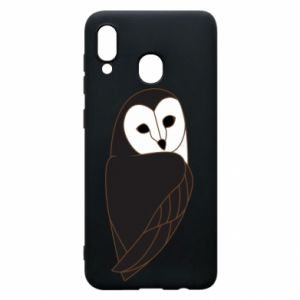 Phone case for Samsung A30 Black owl - PrintSalon