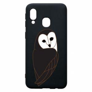 Phone case for Samsung A40 Black owl - PrintSalon
