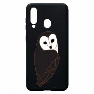 Phone case for Samsung A60 Black owl - PrintSalon
