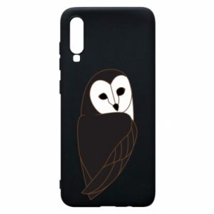 Phone case for Samsung A70 Black owl - PrintSalon