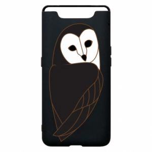 Phone case for Samsung A80 Black owl - PrintSalon