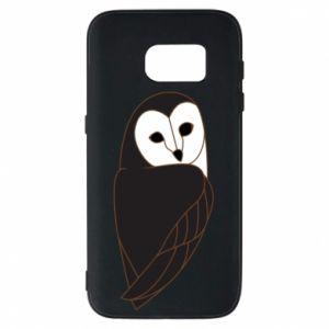 Phone case for Samsung S7 Black owl - PrintSalon