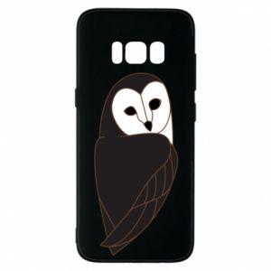 Phone case for Samsung S8 Black owl - PrintSalon