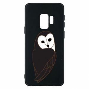 Phone case for Samsung S9 Black owl - PrintSalon