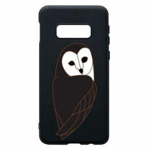 Phone case for Samsung S10e Black owl - PrintSalon
