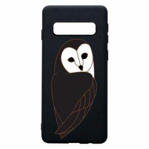 Phone case for Samsung S10 Black owl - PrintSalon