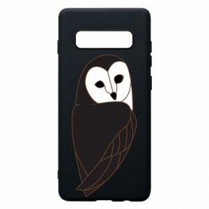 Phone case for Samsung S10+ Black owl - PrintSalon