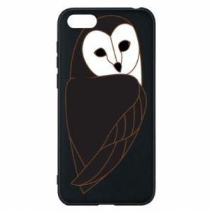 Phone case for Huawei Y5 2018 Black owl - PrintSalon