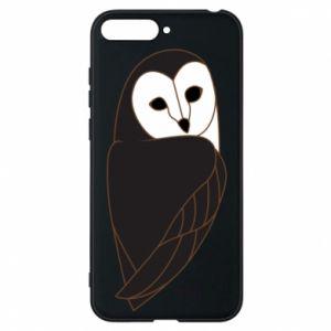 Phone case for Huawei Y6 2018 Black owl - PrintSalon