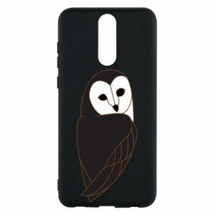 Phone case for Huawei Mate 10 Lite Black owl - PrintSalon