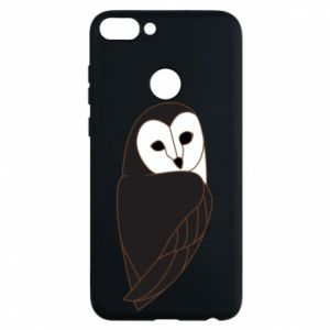 Phone case for Huawei P Smart Black owl - PrintSalon