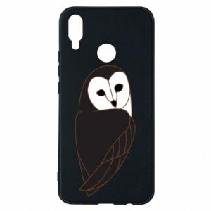 Phone case for Huawei P Smart Plus Black owl - PrintSalon