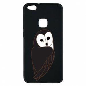 Phone case for Huawei P10 Lite Black owl - PrintSalon