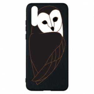 Phone case for Huawei P20 Black owl - PrintSalon