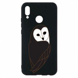 Phone case for Huawei P20 Lite Black owl - PrintSalon