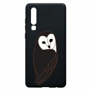 Phone case for Huawei P30 Black owl - PrintSalon