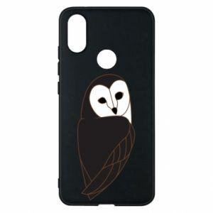 Phone case for Xiaomi Mi A2 Black owl - PrintSalon