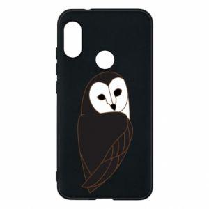Phone case for Mi A2 Lite Black owl - PrintSalon