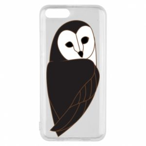 Phone case for Xiaomi Mi6 Black owl - PrintSalon