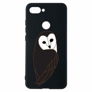 Phone case for Xiaomi Mi8 Lite Black owl - PrintSalon
