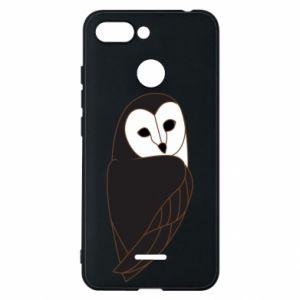 Phone case for Xiaomi Redmi 6 Black owl - PrintSalon