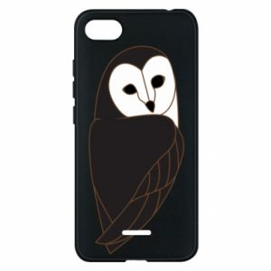 Phone case for Xiaomi Redmi 6A Black owl - PrintSalon
