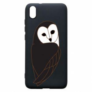 Phone case for Xiaomi Redmi 7A Black owl - PrintSalon