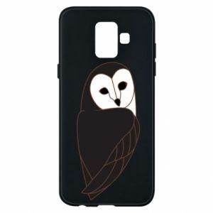 Phone case for Samsung A6 2018 Black owl - PrintSalon