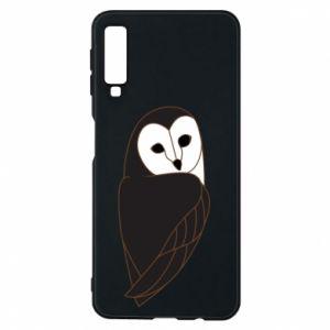 Phone case for Samsung A7 2018 Black owl - PrintSalon