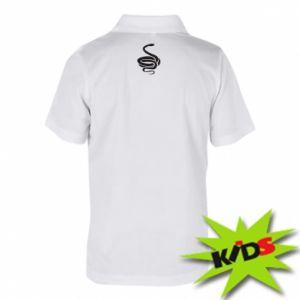Children's Polo shirts Black rattlesnake - PrintSalon
