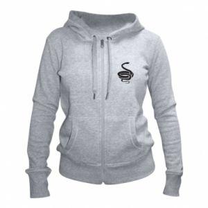Women's zip up hoodies Black rattlesnake - PrintSalon