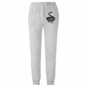 Męskie spodnie lekkie Black rattlesnake - PrintSalon
