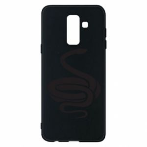 Phone case for Samsung A6+ 2018 Black rattlesnake - PrintSalon