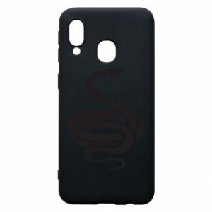 Phone case for Samsung A40 Black rattlesnake - PrintSalon