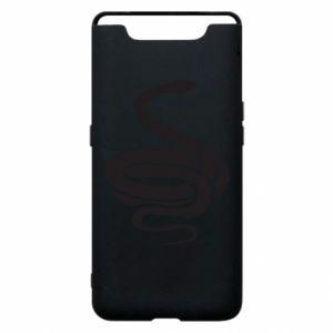 Phone case for Samsung A80 Black rattlesnake - PrintSalon