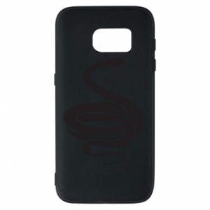 Phone case for Samsung S7 Black rattlesnake - PrintSalon