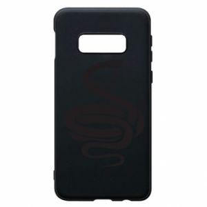 Phone case for Samsung S10e Black rattlesnake - PrintSalon