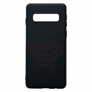 Phone case for Samsung S10 Black rattlesnake - PrintSalon