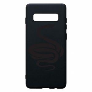 Phone case for Samsung S10+ Black rattlesnake - PrintSalon
