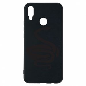 Phone case for Huawei P Smart Plus Black rattlesnake - PrintSalon