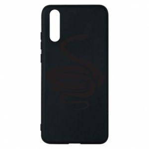 Phone case for Huawei P20 Black rattlesnake - PrintSalon